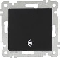 """MUTLUSAN """"Rita"""" Механизм выключателя 1-й проходной 10А черный (2200 403 0184)"""