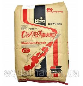 Корм для карпов кои Hikari Wheat-Germ Sinking тонущий 15 kg (для низких температур, корм для прудовых рыб )