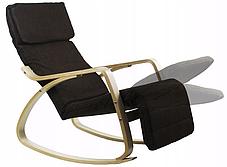 Крісло гойдалка Goodhome Brown, 120кг, фото 3