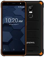 """Смартфон Poptel P10 4/64Gb Orange, 13/2Мп, Helio P23, 2sim, 5.5"""" IPS, 3600мАч, 8 ядер, 4G (LTE)"""