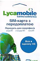 Стартовый Пакет Lycamobile Все в одном XS