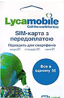 Стартовый Пакет Lycamobile Все в Одном M