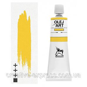 Фарба олійна, Неаполітанська жовта темна, 60мл, Renesans, фото 2