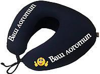 Подушка дорожная для шеи EKKOSEAT. С Вашим логотипом. Опт.