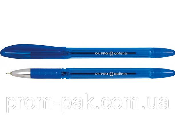 Ручка масляна Oil-pro синя О15616, фото 2