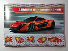 Альбом для рисования А4 60 листов 120 (100) г/м², скоба АВТО КРАСНОЕ / альбом для малювання 60 аркушів
