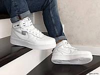 Чоловічі кросівки в стил Nike Air Force  білі