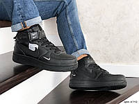 Чоловічі кросівки в стил Nike Air Force  чорні