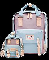 Рюкзак Doughnut голубой  + сумочка Doughnut в подарок