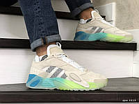 Чоловічі кросівки в стилі  Adidas Streetball  бежеві