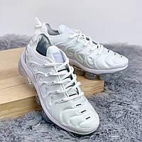 Мужские кроссовки белые Nike Air VaporMax (реплика ТОП), фото 1