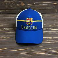 """Синяя кепка """"Barcelona"""" с сеткой"""