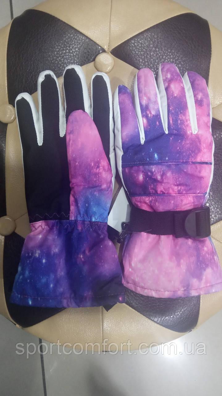 Перчатки женские розовые, сирень freever