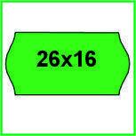 Этикет-лента (ценники) 26х16 фигурная, цветная для этикет-пистолетов
