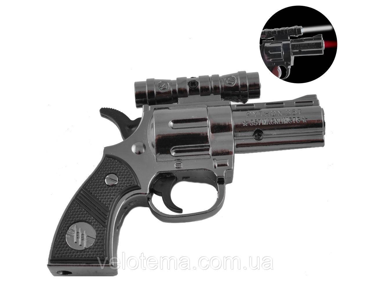 Газова запальничка пістолет Python 357 (Турбо полум'я, Ліхтарик)