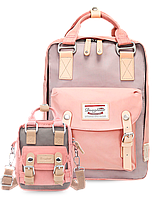 Рюкзак Doughnut розовый + сумочка Doughnut в подарок