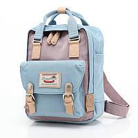 Женский городской рюкзак Doughnut Macaroon голубой  Код 11-0079