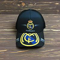 """Черная Кепка """"Real Madrid"""" с черной сеткой, фото 1"""