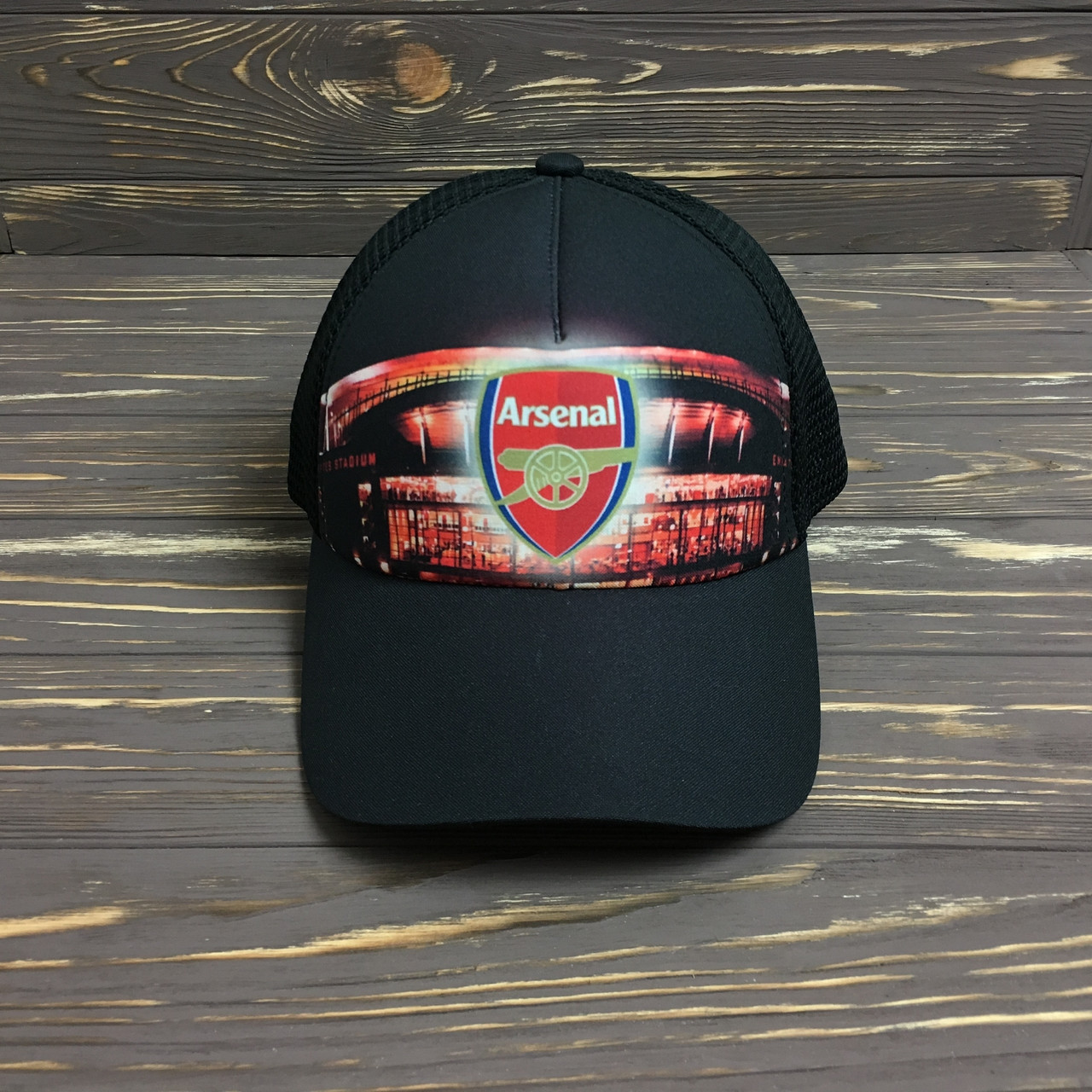 """Кепка """"Arsenal"""" с черной сеткой"""