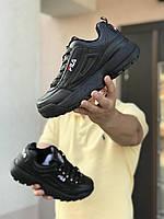 Чоловічі кросівки в стилі Fila Disruptor 2  чорні