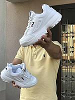 Чоловічі кросівки в стилі Fila Disruptor 2  білі