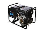 Однофазный дизельный генератор HYUNDAI DHY 7500LE (6 кВт) + колеса
