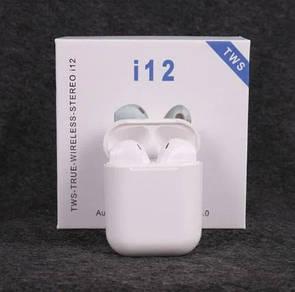Беспроводные Bluetooth наушники I12 с кейсом
