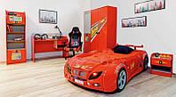 Детская комната Форсаж мебель красная (Украина) кровать машина АБС-пластик (Турция)