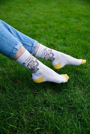 "Белые носки с рисунком ""Мульйон"", фото 2"