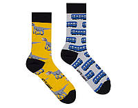 "Разно парные носки ""Метро - динозавр"" от Sammy-Icon"