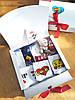 Подарочный набор женский. Трусики Зонт 3 шт, Teddy букет бел, носки Смайл, Love is, Гарні очі, Kinder, KitKat, фото 9