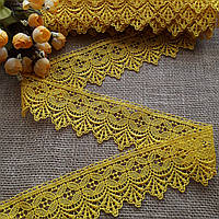 Кружево макраме Ажур жёлтое, 6 см, фото 1