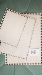 Заготівля з фанери прямокутна (22.5*31.5 см)