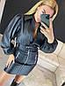 Шикарный костюм (рубашка +юбка), ткань: экокожа. Размер: 42-44. Разные цвета. (1706 бел), фото 4