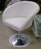 Кресло Мурат НЬЮ экокожа белая поворотное газлифт СДМ группа (бесплатная доставка), фото 2