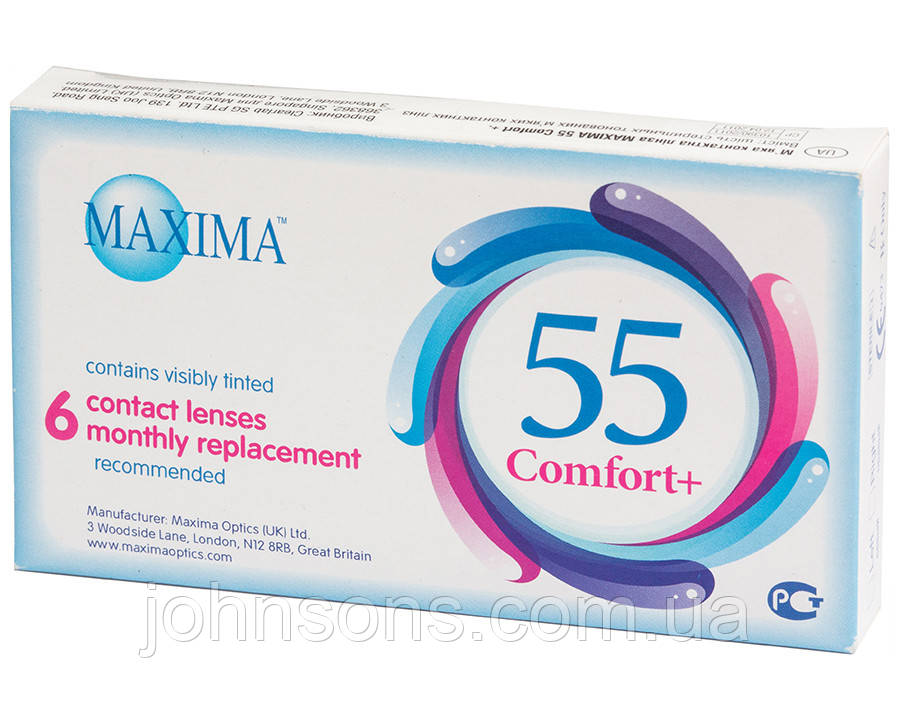 Контактные линзы Maxima 55 Comfort+ (6шт.в уп)