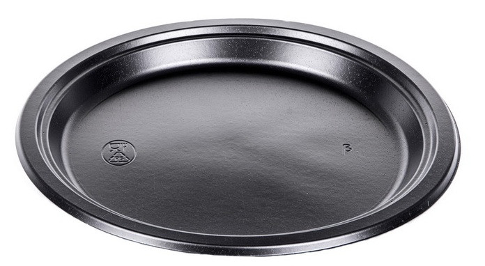 Тарелка одноразовая 240мм Андрекс черная
