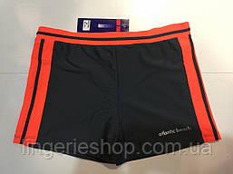 Плавки-шорты мужские Atlantic серый с оранжевым