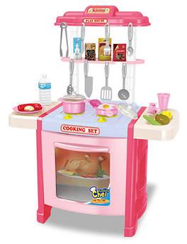 Детская интерактивная кухня bei di yuan toys Talanted chef 992-15A 42 ел. 70 см