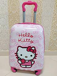 "Детский чемодан на 4 колесах для девочки ""Hello Kitty"" 45*31*21"