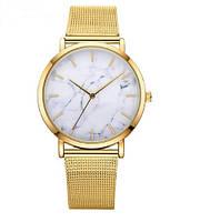 Женские наручные часы мрамор Часы с мрамором Золотистые. Жіночий годинник