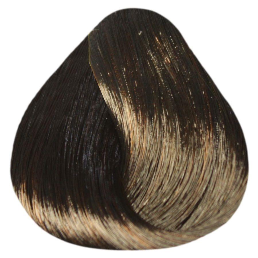Краска уход ESTEL De Luxe 4/70 Шатен коричневый для седины 60 мл