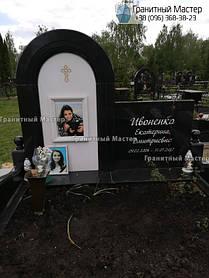 Детский памятник из гранита и белого мрамора. Фото с Жулянского кладбища, Киев 1