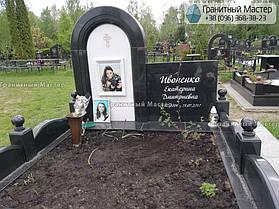 Детский памятник из гранита и белого мрамора. Фото с Жулянского кладбища, Киев 3