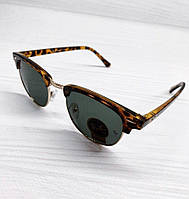 Солнцезащитные очки Ray Ban реплика Леопардовые с темной линзой