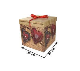 Коробка подарочная CEL-141-1L  в пак.,/20*20 см