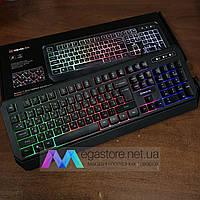 Клавиатура игровая с подсветкой REAL-EL Comfort 7001 Backlit геймерская keyboard для ПК компьютера и ноутбука