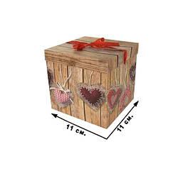 Коробка подарункова CEL-141-2S в пак.,/11*11 см