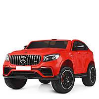 Двухместный детский электромобиль Джип M 4177 EBLR-3, Mercedes GLC 63s, музыка, EVA, кожаное сиденье, красный