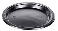 Тарелка одноразовая 260мм Premium черная